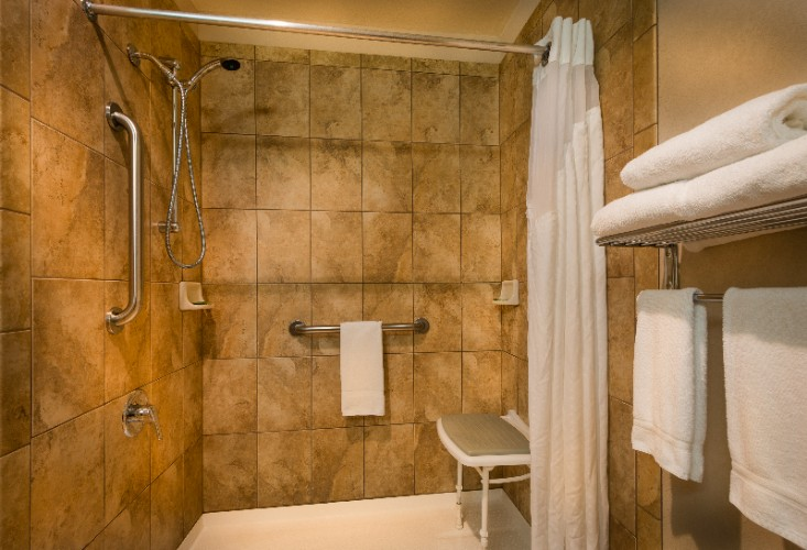 The Handicap Accessible Roll In Shower 14 of 16