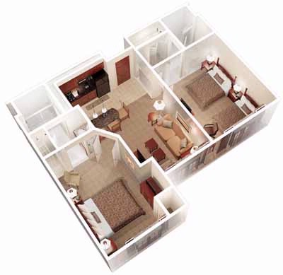 Two Bedroom Layout 5 of 6