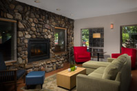 Country Inn & Suites Portland Airport -Welcoming Lobby With Fresh Baked Cookies And Fireplace 5 of 15