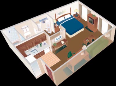 Studio Suite Floor Plan 11 of 14