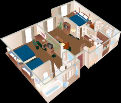 Two Bedroom Suite Floor Plan 13 of 14