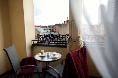 Balcony In Suite Room At Clarion Collection Hotel Valdemars In Riga 3 of 12
