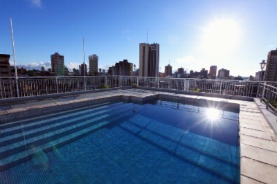 The Pool Located On The Hotels´s 8th Floor Has A Beatiful View Of Downtown And The Bay Of Asuncion. 8 of 9