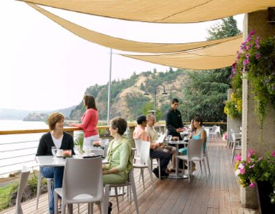 Seasonal Dining Outside On Riverside\'s Expansive Deck. 8 of 11
