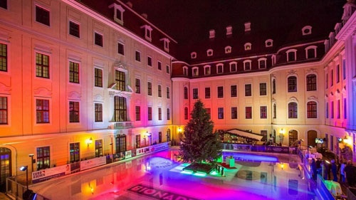 Ice Rink On Inner Courtyard During Winter 5 of 31