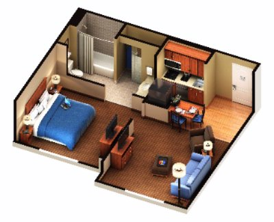 One Bedroom Suite Layout 9 of 10