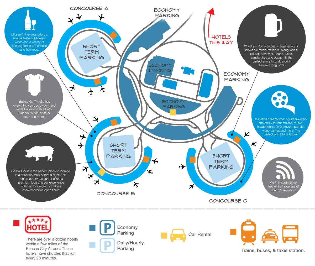 map kansas city airport 33 Excellent Hotels Near Kansas City International Airport Mci map kansas city airport